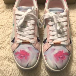 Worn once Ted Baker floral sneakers